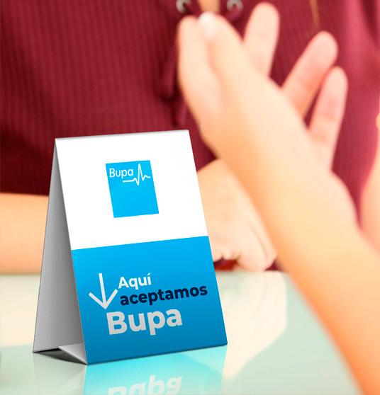 Publicidad colgante de Bupa